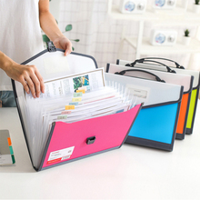 13 Pockets Expanding File Folder A4 Organizer Portable High Capacity Business Document Accordion Folder  Office Student Supplies 24 pockets a4 accordion expanding high capacity plastic stand bag colored tab file organizer