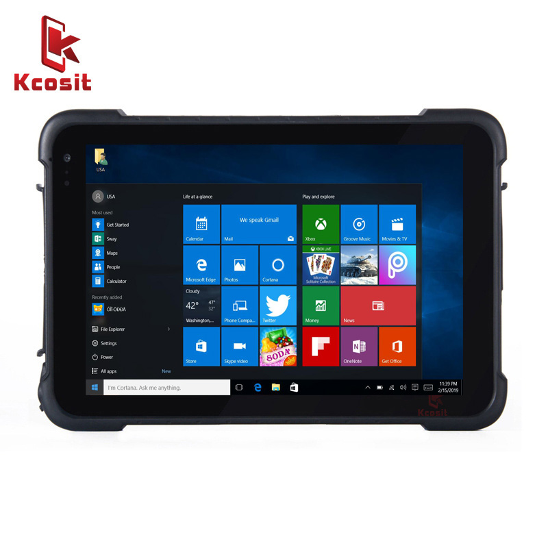 Original Kcosit K86 8 Inch Tablets With Windows 10 Phablet Intel Z8350 Quad Core Waterproof HDMI USB 8500mAH 3G GPS