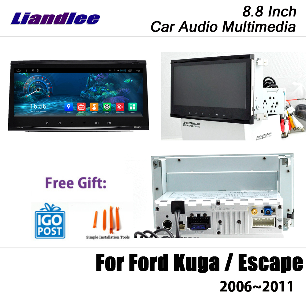 Car Android Radio For <font><b>Ford</b></font> Kuga/<font><b>Escape</b></font> 2006 2007 2008 <font><b>2009</b></font> 2010 2011 <font><b>GPS</b></font> Navigation Multimedia Screen DVR Driving Video Recorder image