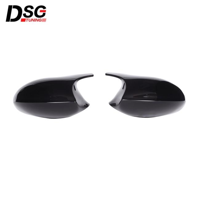 ABS Gloss Black Rear View Mirror Caps For BMW 3 Series E90 E91 05 07 & E90 E92 06 09 Replacement Cover E81 E82 E87 E88 pre LCI