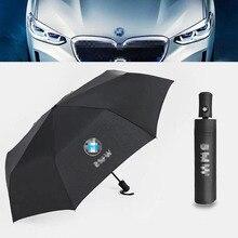 Автоматический складной зонт бизнес джентльмен автоматический зонт высокого класса продукты с автомобилем головной логотип для BMW E46 E36 E90