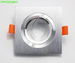 Image 3 - DIY أطقم 6 حزمة مربع الألومنيوم led أسفل تركيب المصابيح حافة ل MR16 GU10 حامل إطار ضياء 50 مللي متر rotable أدى أضواء تركيبات