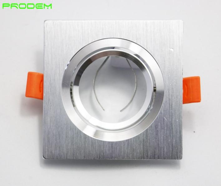 DIY KITS 6 PACK kvadrat alüminium MR16 GU10 sahibi çərçivə dia - İşıqlandırma aksesuarları - Fotoqrafiya 3