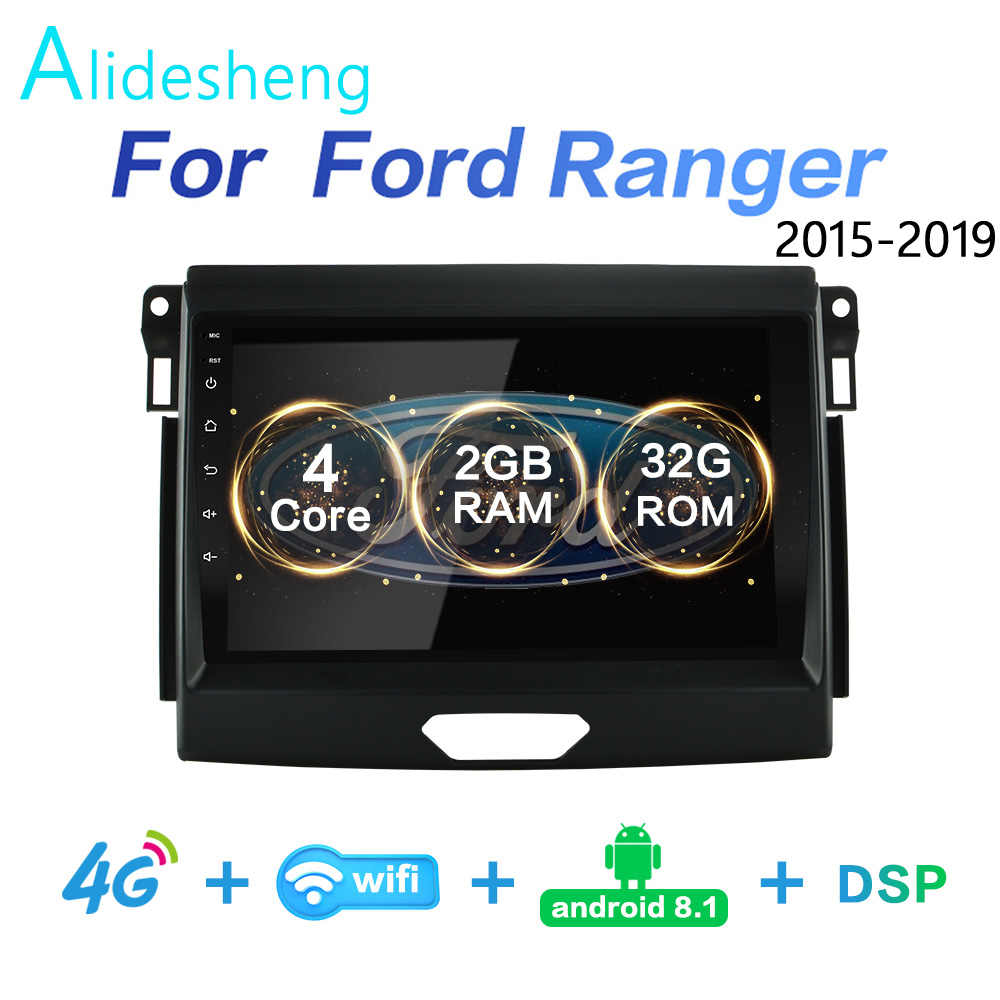 2 Gram + 32 Grom DSP 2 DIN Android 8.1 4G Net Mobil Radio Pemutar Video Multimedia untuk Ford ranger 2015 2016 2017 2018 WIFI Bluetooth