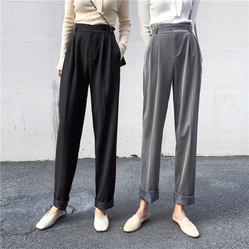 High Waist Harem Pants 2020 Spring Women Suit Pants Korean Trousers Ladies Sweatpants