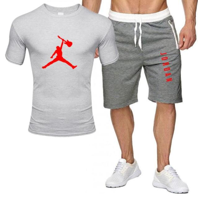 2piece set men outfits jordan 23 t-shirt shorts summer short set tracksuit men sport suit jogging sweatsuit basketball jersey 2