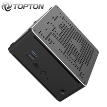 TOPTON Intel i9 10980HK 10880H i7 10750H 8 rdzeń 10. Generacji Mini PC 2 * Lan 2 * DDR4 2 * M.2 NVMe komputer do gier Win10 HDMI DP type-c