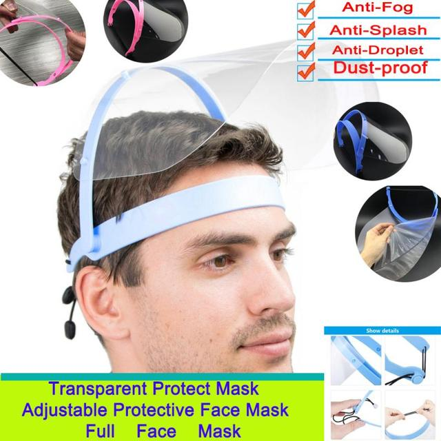 Anti Droplet Dust-proof Full Face Cover Mouth Mask Protective Visor Shield Face Shield Transparent Anti-foam Kitchen Accessories
