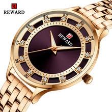 Recompensa moda de luxo marca senhoras relógio quartzo casual à prova dwaterproof água relógios femininos reloj mujer 2021 feminino relógio relogio feminino