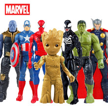 30 Cm Marvel Avengers Venom Spiderman Captain America Wolverine Hulk Iron Man Groot Thanos Collection Action Figure Hot Speelgoed Kids(China)