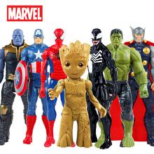 30CM Marvel Avengers venomem spidermanem kapitan ameryka Wolverine Hulk Iron Man Groot Thanos kolekcja figurka gorące zabawki dla dzieci tanie tanio Disney Model Unisex Small parts not for kids under 3 years 30cm 12inc Second edition 3 lat Urządzeń peryferyjnych Zachodnia animiation
