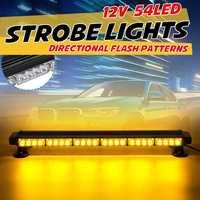 12V 28 70cm LED Car Truck Strobe Light Flashing Warning Emergency Light Bar Roof Beacon Lamp 7 Mode for Jeep Trailer
