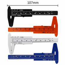80мм мини пластиковые раздвижные штангенциркуль Калибр мера инструмент правитель