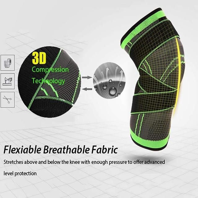 1PC Kneepad Elastic Bandage Pressurized Knee Pads Knee Support Protector for Fitness sport running Arthritis muscle joint Brace 3