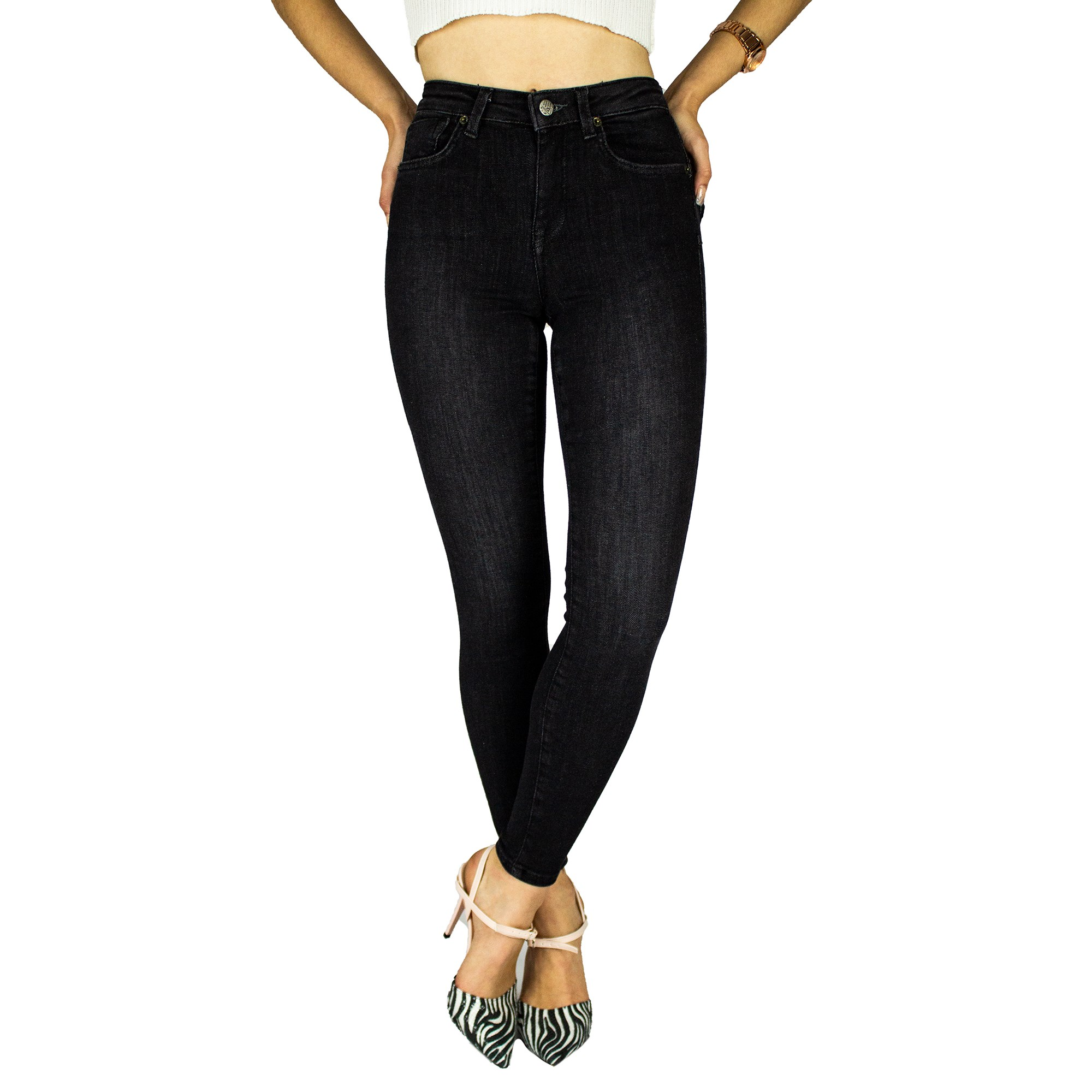 Jeans For Women Mom Jeans High Waist Jeans Female High Elastic Plus Size Stretch Jeans Female Washed Denim Skinny Pencil Pants
