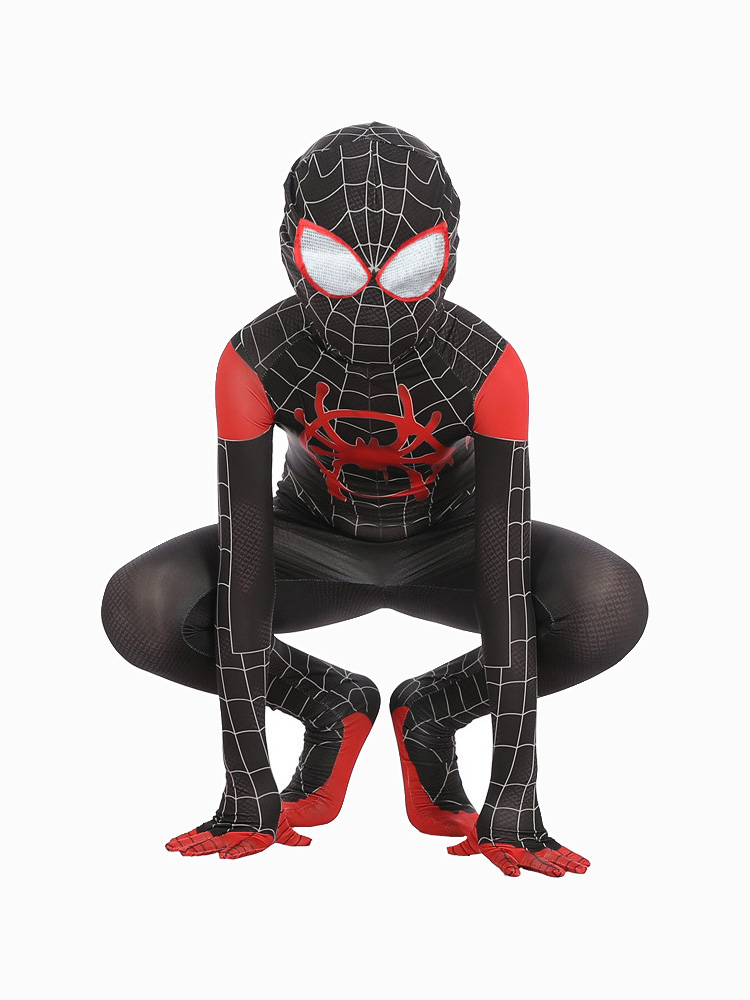 Spider Boy Into The Spider-Verse Miles Morales Cosplay Costume Zentai Bodysuit Suit Jumpsuits Halloween Costume For Kids