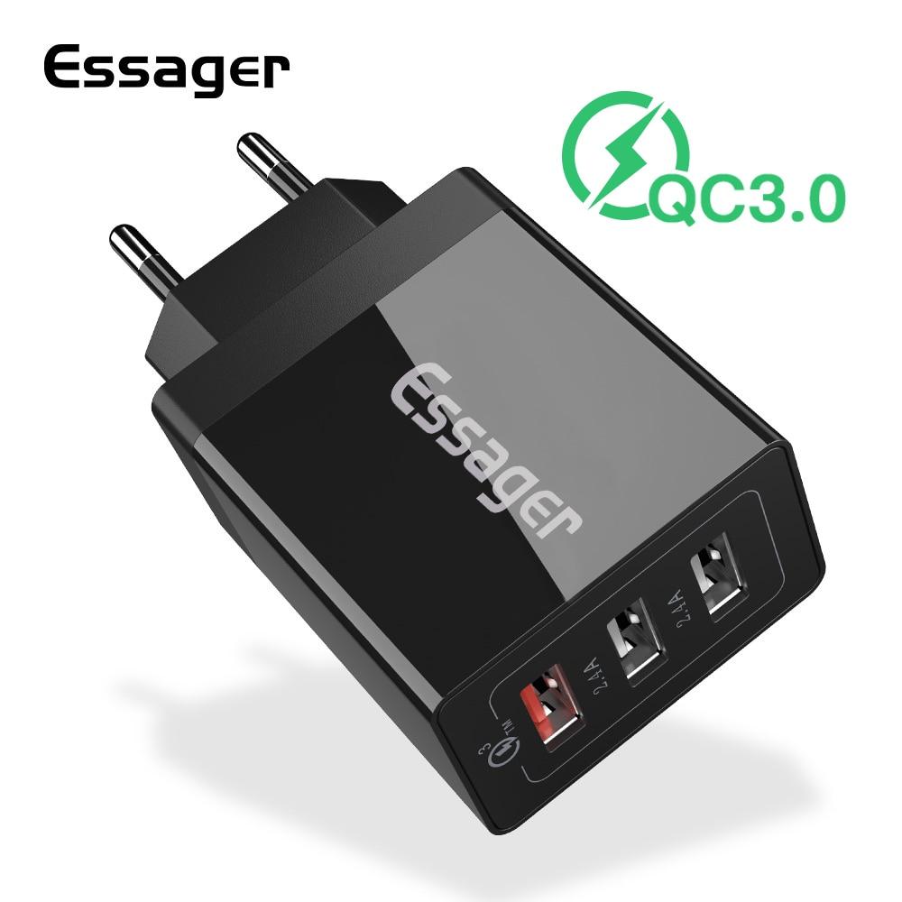 Essager Usb-Charger Multi-Plug QC3.0 IPhone Xiaomi Mi Samsung Qc-4.0 30W