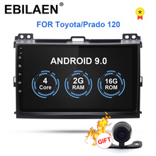 EBILAEN Android 9.0 Car Multimedia For Toyota Land Cruiser Prado 120 2004 2009 2Din Radio Cassette Player Navigation GPS
