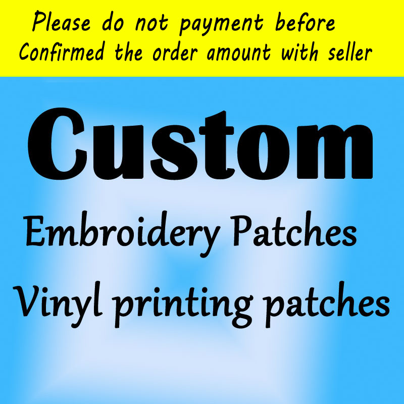 Wholesale Custom NAME/LOGO Patches In Embroidery For Clothing Embroideried Patch 3D DIY Iron/Sew Patch For Clothing Hats