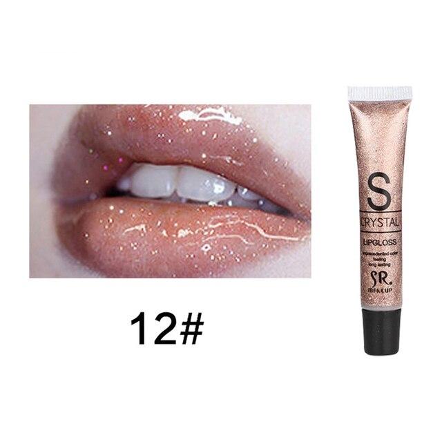 Moisturizing Glitter Liquid Lip Gloss Candy Color Long Lasting Lipstick Waterproof Lipstick Lip Batom Women Makeup Tools TSLM2 4