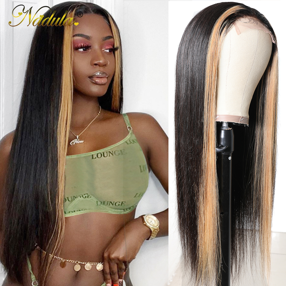Nadula Hair 13x4 Straight Hair Highlight Lace Front Wigs  Ombre Lace  Wig  Straight Hair Ombre Wig 1