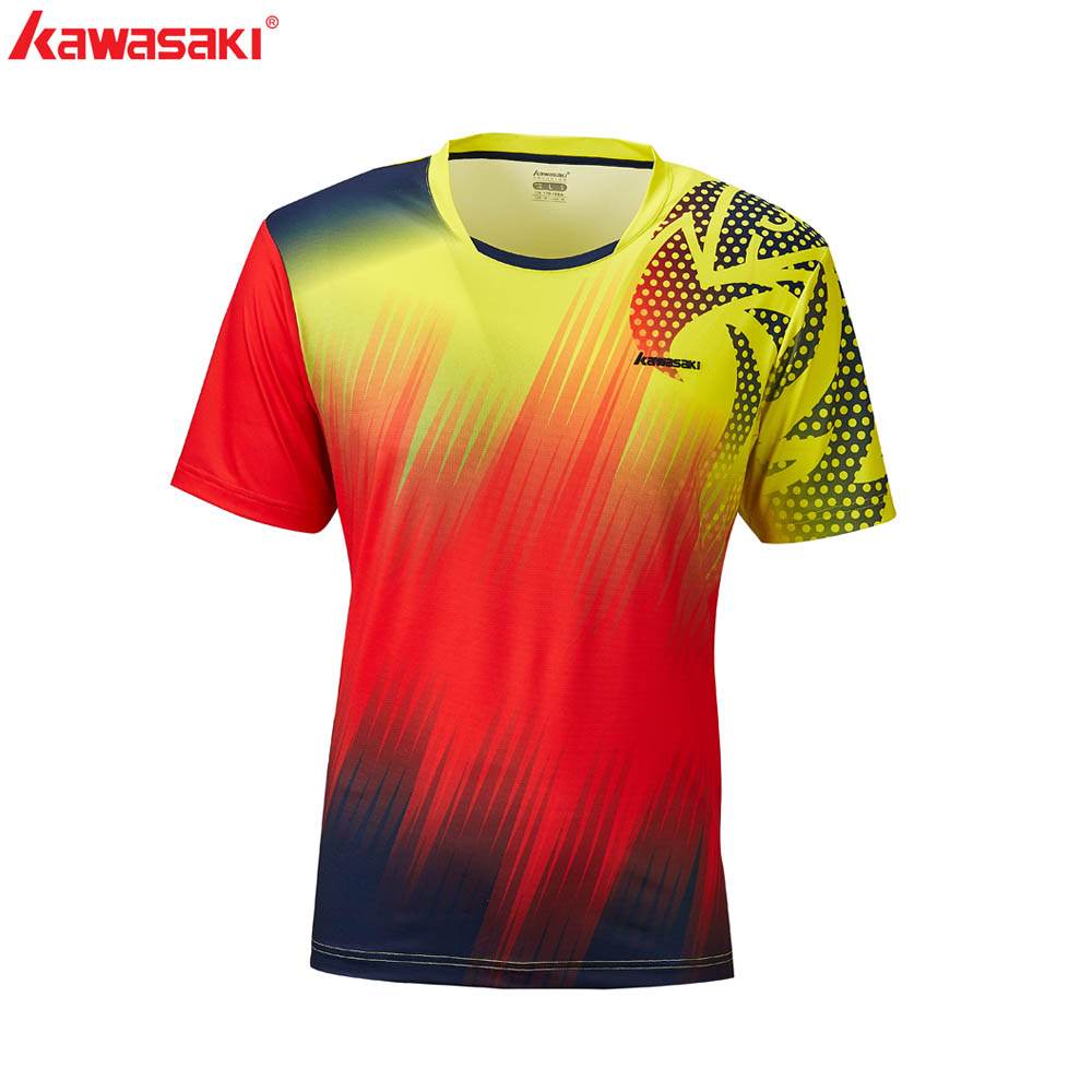 Kawasaki Badminton T-shirt Summer Outfits Print T-shirt Short Sleeve ST-R1230,ST-R1232