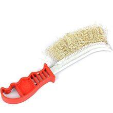 Escova de fio de aço inoxidável durável com alça anti-ferrugem limpeza e polimento ferramenta lacuna limpeza e remoção de ferrugem escova