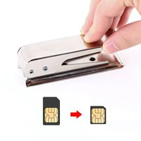 1pcs Easy operating Standard or Micro SIM Card to Nano SIM Cut Cutter For iPhone 5 Newest Drop Shipping Wholesale|  -