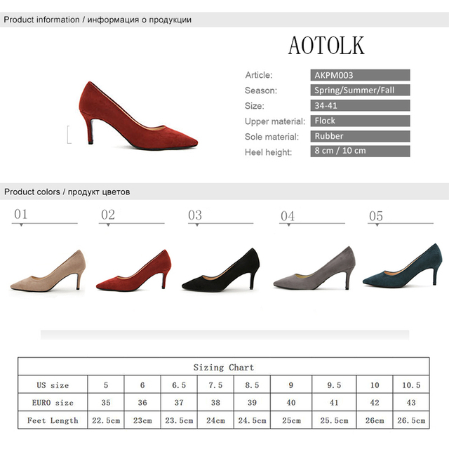 Pumps Women Shoes In Women Heels Brand Female Shoes Flock Solid Classics Ladies Thin Heel Casual Shoes Plus Size 2019 Spring DE