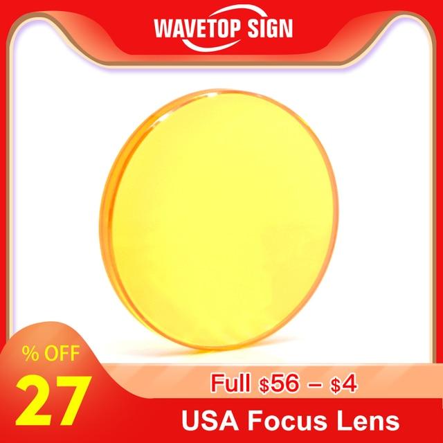 Odak lensi ABD CVD ZnSe Dia 12 15 18 19.05 20 25 FL 38.1 50.8 63.5 76.2 101.6 127mm CO2 Lazer Oyma Kesme Makinesi