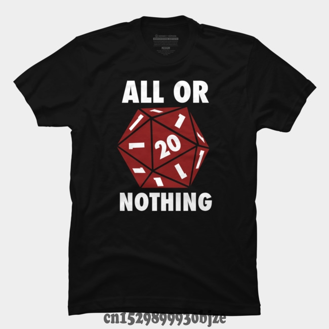 personality T-shirt ALL OR NOTHING Fashion T Shirt 100% Cotton image