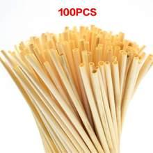 100 pces a + palha natural do trigo 100% palhas biodegradáveis ambientalmente amigável portátil bebendo palha barra acessórios de cozinha