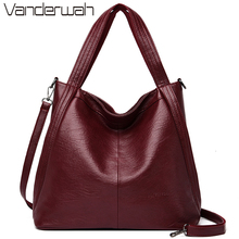New Casual Tote Sac Leather Luxury Handbags Women Bags Designer Handbags High Quality Ladies Shoulder Hand Bags For Women Bolsa cheap VANDERWAH Shoulder Bags Shoulder Handbags Genuine Leather Sheepskin Silt Pocket 1238 Polyester Three NONE Versatile zipper