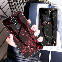 На Алиэкспресс купить стекло для смартфона marble patterned tempered glass phone case for nokia x6 7 3.1 7.1 x7 9 4.2 1 x71 plus protective shockproof cover case fundas