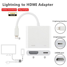Converter สำหรับ Lightning TO HDMI VGA AUDIO TV Adapter สำหรับ iPhone X iPhone 8 7 7 Plus 6 6S สำหรับ iPad Series(China)