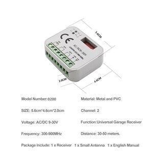 Image 2 - Uzaktan kumanda anahtarı alıcısı 433MHz 868MHz 300 315 318 390 MHz alıcı AC/DC 9 30V 300 900MHz garaj kapısı alıcısı