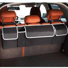 Oparcie siedzenia samochodu organizator bagażnika tylne siedzenie wiszące kilka kieszeni worek do przechowywania samochodów podróży schowek Tidying akcesoria