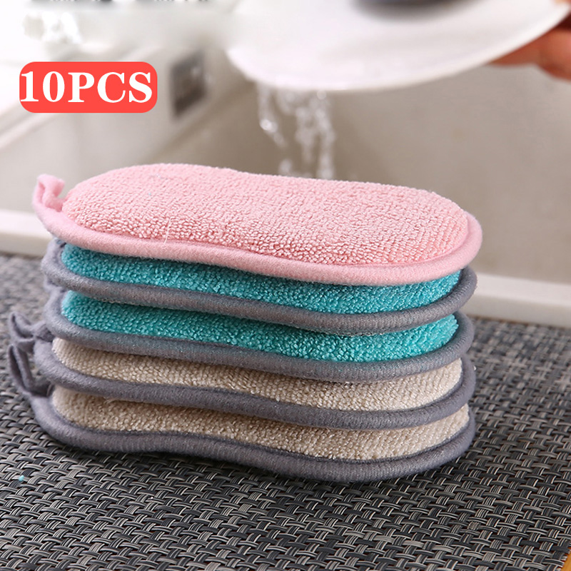 Double Sided Kitchen Cleaning Magic Sponge Kitchen Cleaning Sponge Scrubber Sponges for Dishwashing Bathroom Accessories
