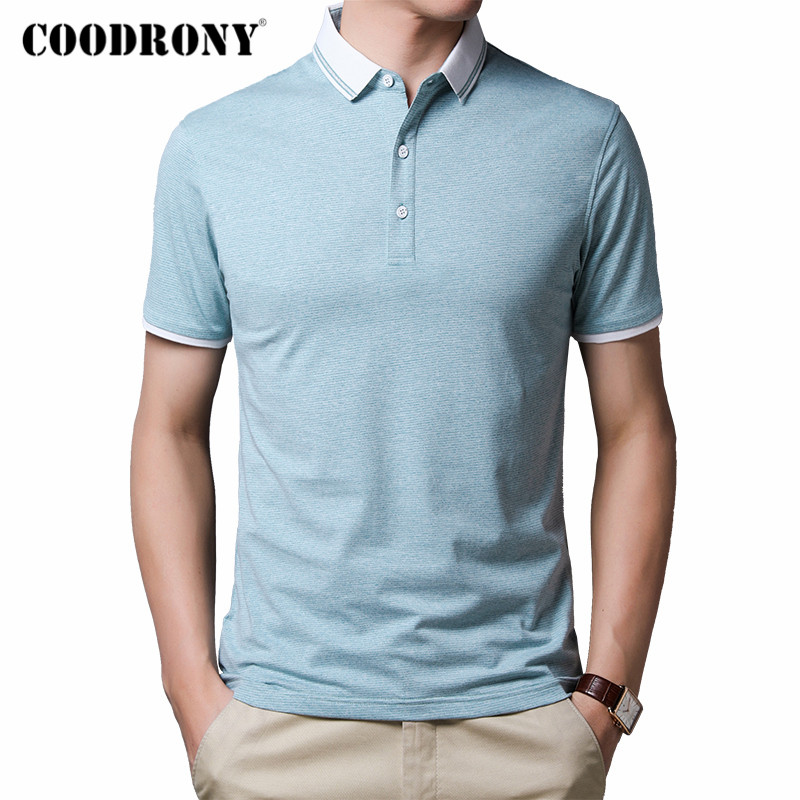 COODRONY Brand Short Sleeve T Shirt Men Cotton Tee Shirt Homme 2020 Spring Summer New Arrival Business Casual T-Shirt Men C5005S
