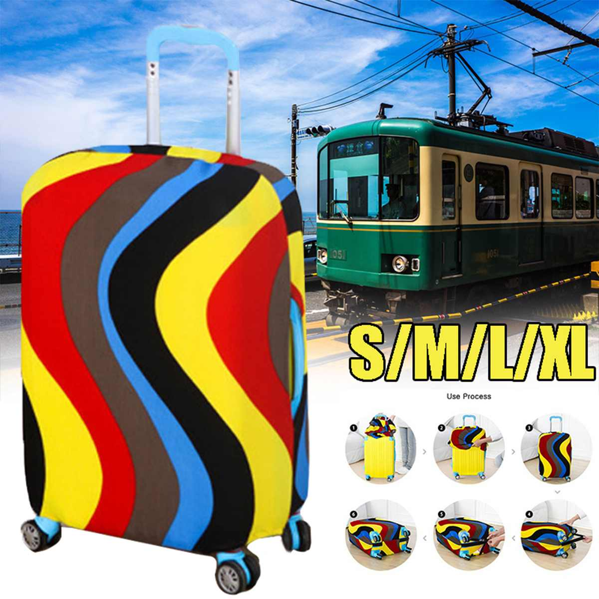 Waterproof Suitcase Cover Luggage Protector High Elastic Suitcase Protective Covers For Trolley Case Trunk Apply To 18-28 Inch