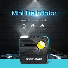 Steelmate 12V DC Air Pump Automotive Portable Air Compressor Pump Tire Inflator for Car Bicycle Ball Inflatables