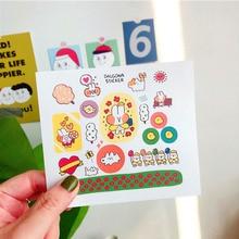 Cute Cartoon Rainbow Rabbit Stickers Color Hand Account Decoration Wall Korean Campus Kawaii Children's stationery gift