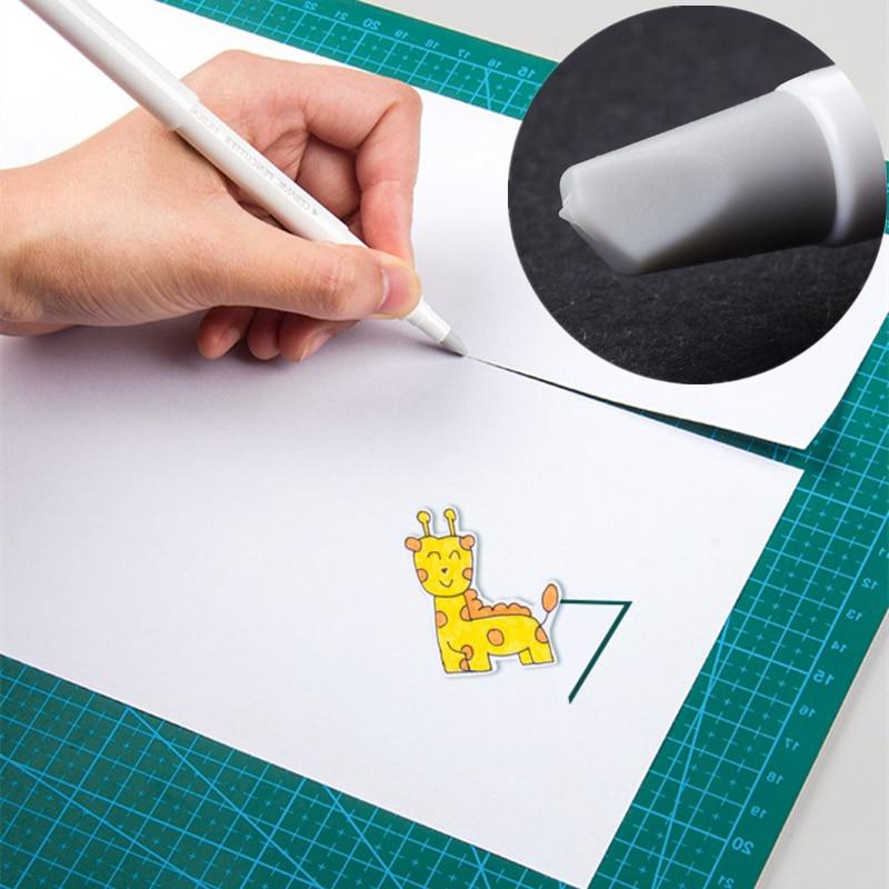 1pcs Creative Paper Pen Knife Wear-Resisting Newspaper Hand Book Cutter Tape Ceramic Blade Utility Knife Cutting Knives