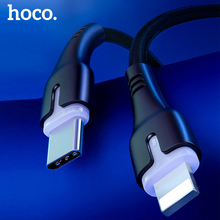 HOCO PD Type C to Lighting Cable For iPhone 11 Pro Xs Max X Macbook 18W PD 3A Fast Charging Sync data cord USB C USB-C Cable usams usb type c to lighting cable 18w pd fast charging cable for iphone xs max xr x 8 plus ipad pro for lightning to usb c wire
