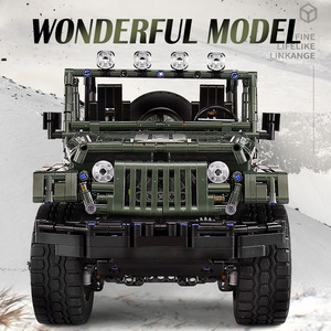 Image 3 - Mould King MOC Technic RC Jeeps Wranglered Adventurer Off road truck model building blocks Bricks kids Toys boys Birthday gifts