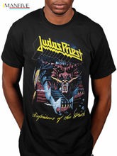 Official Judas Priest Defender Of The Faith T-Shirt British Steel Demolition Fan Retro 100% Cotton Print Shirt Tee Punk Tops