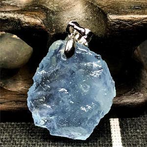 Image 3 - TOP NATURAL Clear Blue Aquamarineหินจี้สำหรับผู้หญิงLady Manคริสตัล 22x20x6 มม.ลูกปัดเงินอัญมณีแฟชั่นเครื่องประดับAAAAA