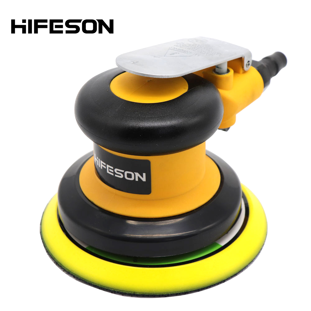 Pneumatic Air Sander Polisher 5'' 125mm Car Paint Care Tool Polishing Random Orbital Palm Machine Wood Working Grinder