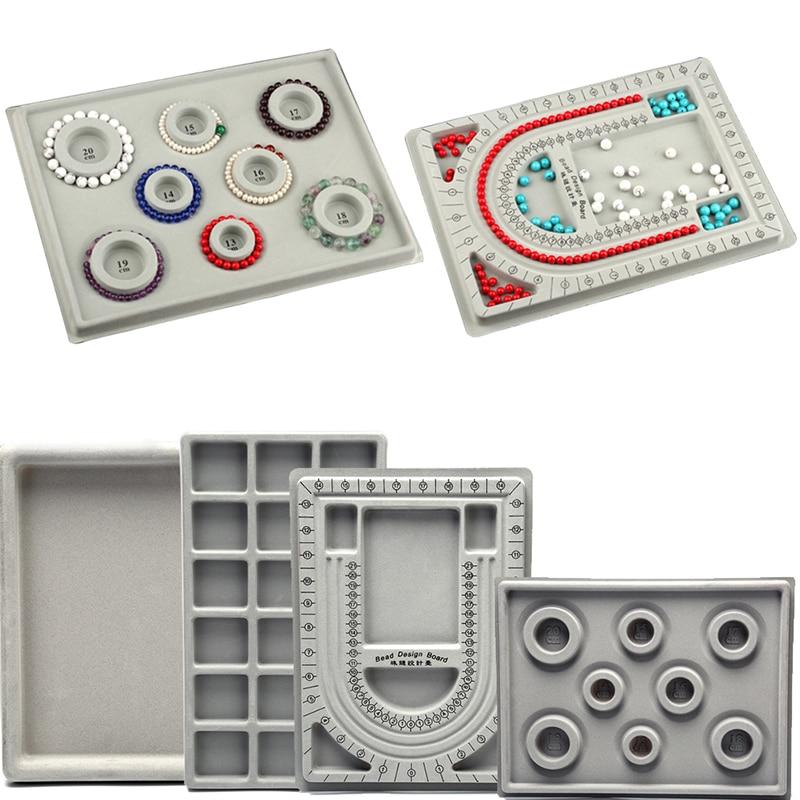 1Pcs Flocked Bead Board Bracelet Beading NecklaceJewelry Making Tray Craft DIY Tool