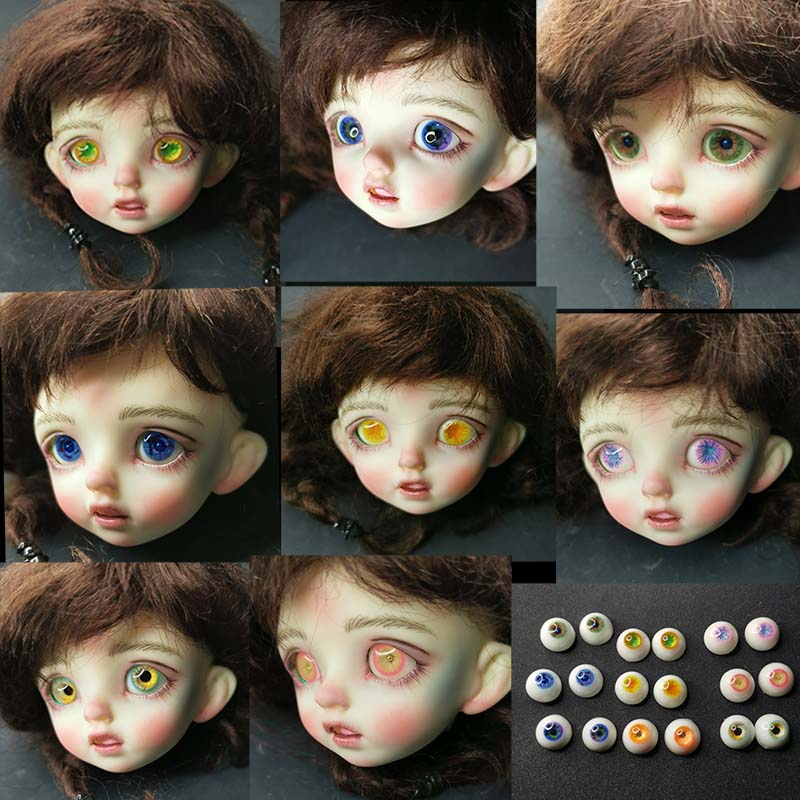 Perfect 8mm Blue/&Green with Lines Glass BJD Eyes for DOD DZ AOD 1//6 BJD Doll